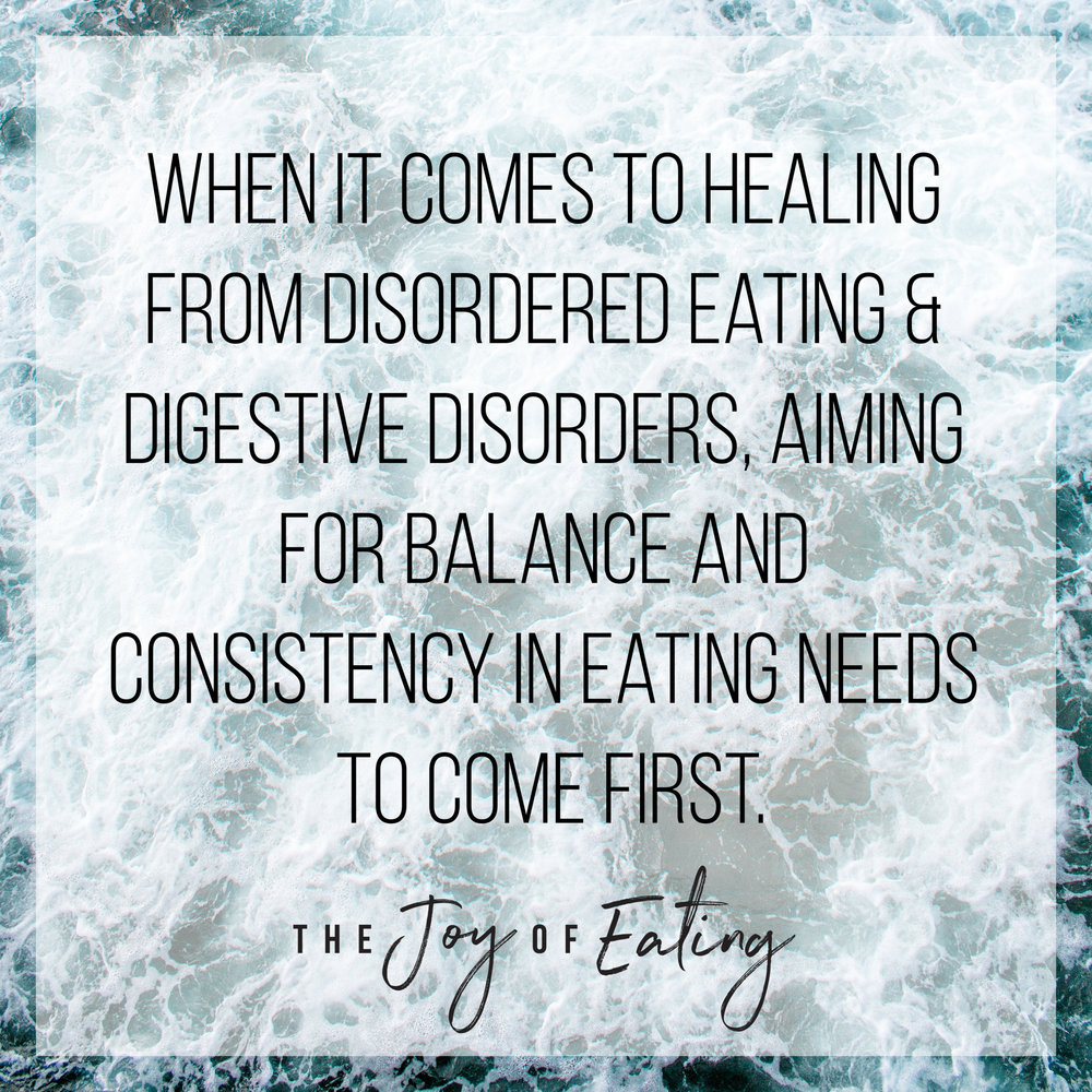 Learn about intuitive eating, IBS & disordered eating. #eatingdisorderrecovery #EDrecovery #IBS #intuitiveeating