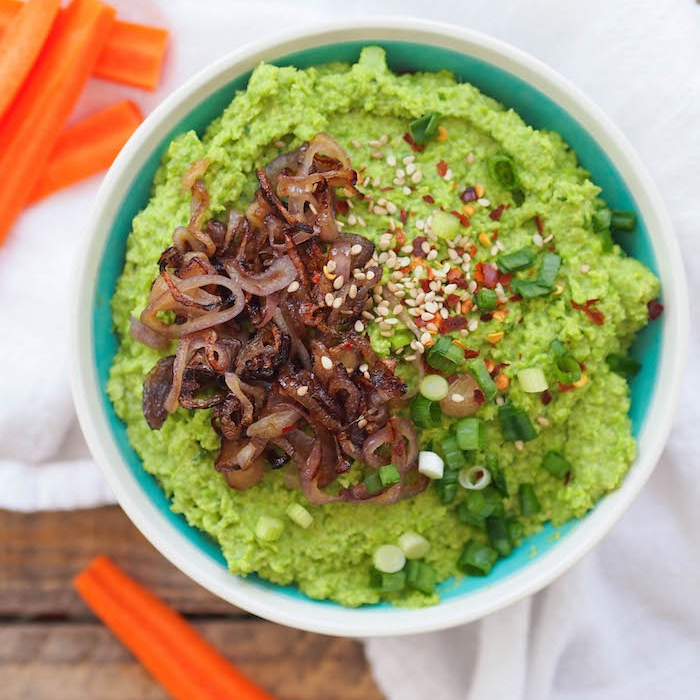Miso Sesame Green Pea Spread