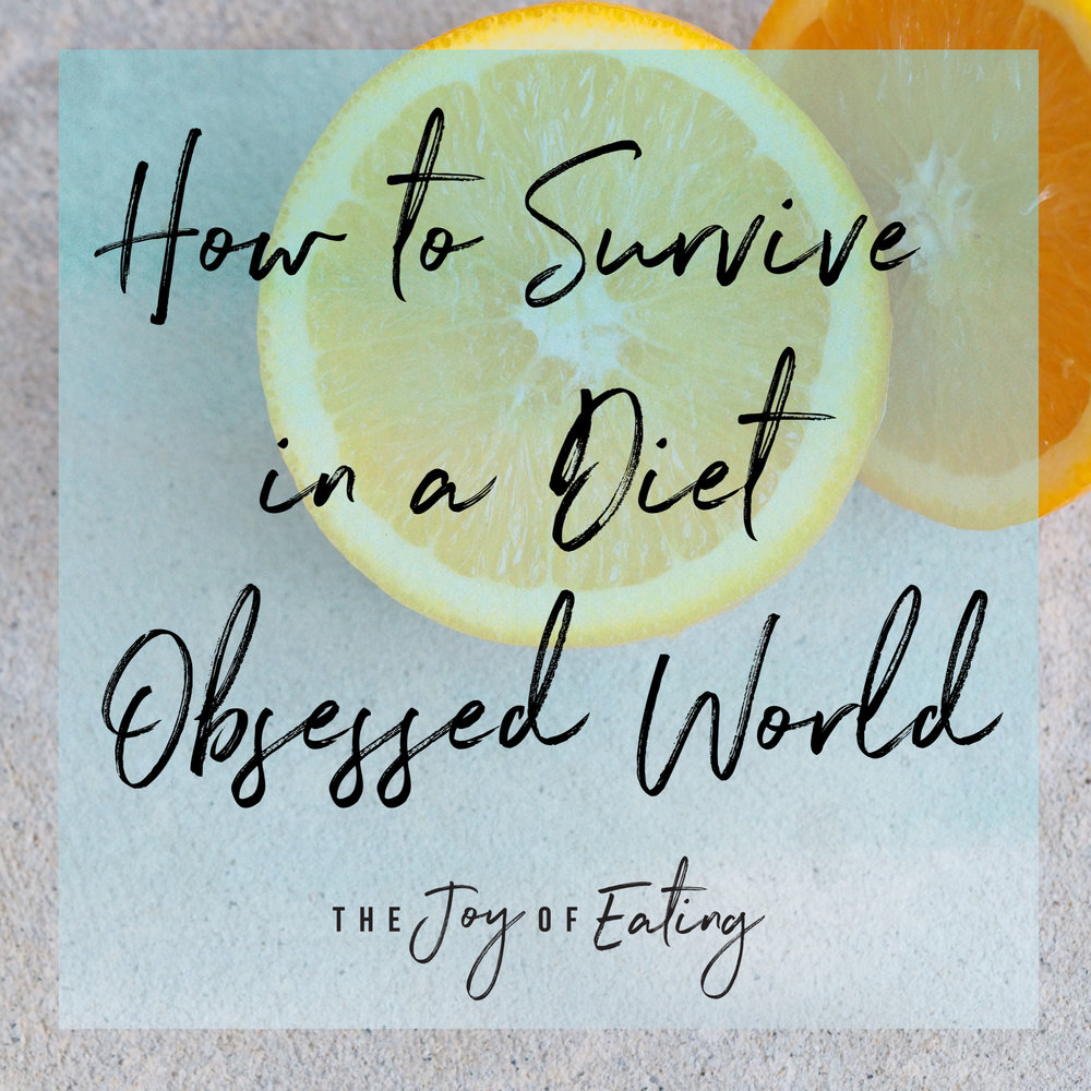 Finding food freedom can be a breath of fresh air, but when your eyes have been opened to the harm dieting and diet culture causes, it can be exhausting. Here's two tips for how to survive in a diet obsessed world. #haes #intuitiveeating #dietitian #bodypositivity #bopo #edrecovery