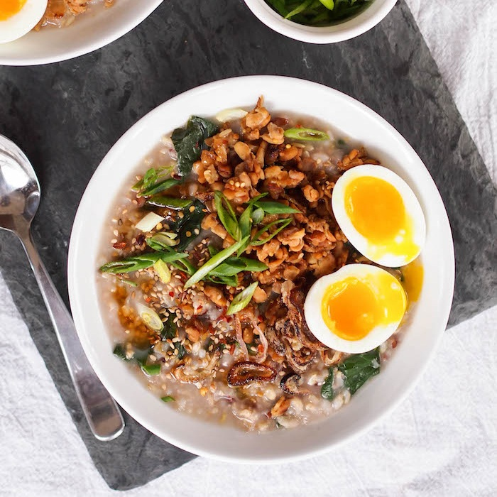 Brown Rice Congee with Tempeh