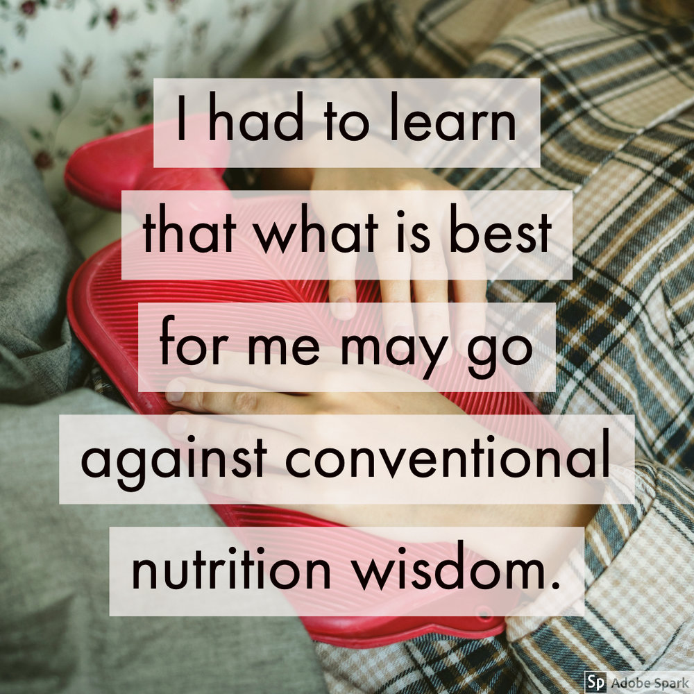 Sometimes more fiber, fluid and exercise ISN'T the fix for IBS, and can even make it worse. When it comes to IBS, what feels best for you is highly individual, and sometimes flies against conventional nutrition advice. Learn more about how intuitive eating can help reduce IBS symptoms in this post. #intuitiveeating #ibs #nutrition
