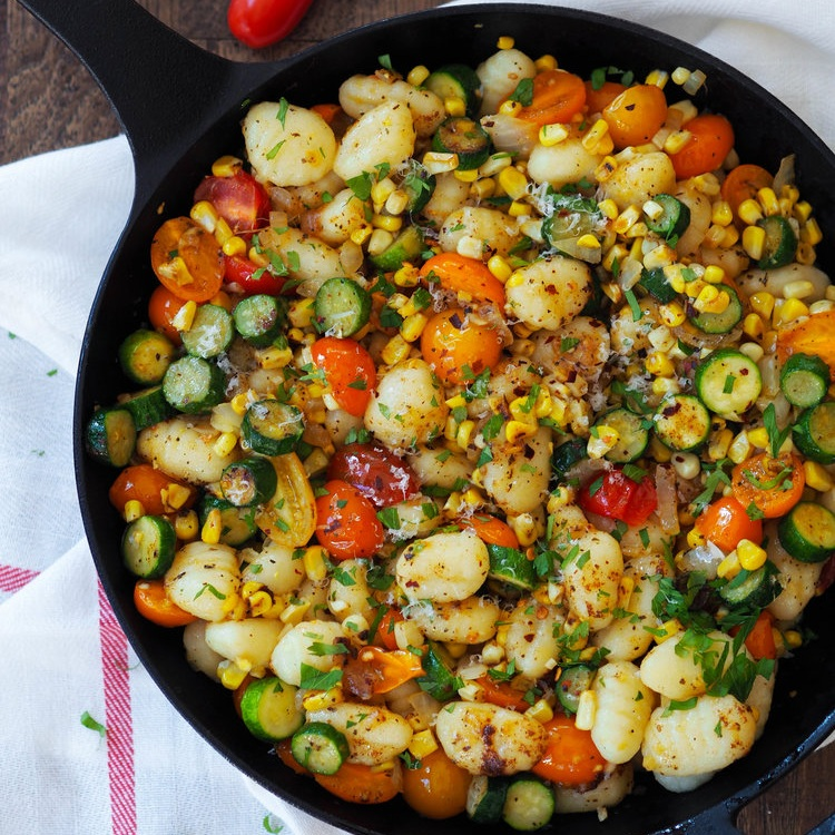 Summer Gnocchi with Basil Browned Butter