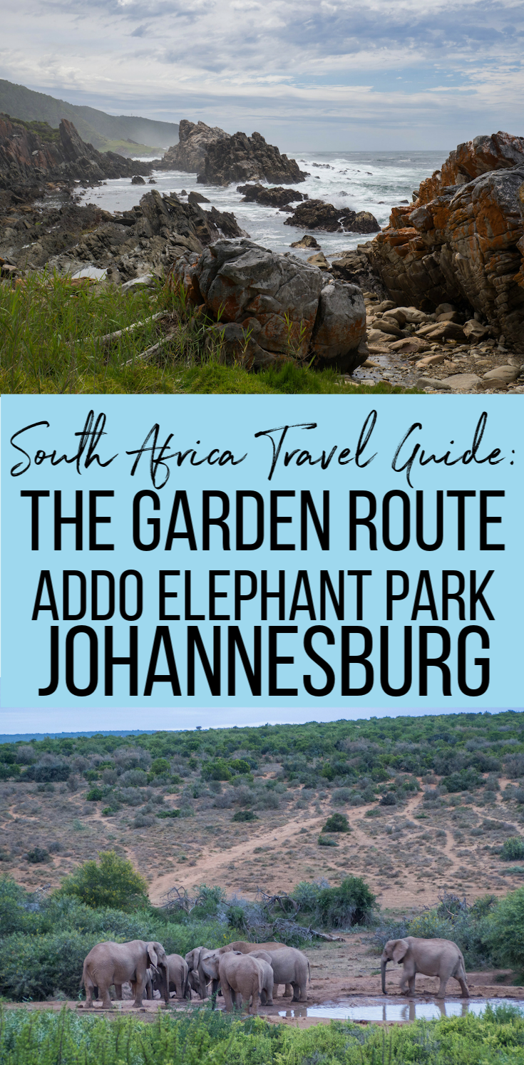 South Africa Travel Guide! What to see, do, and eat on the Garden Route, Addo Elephant Park and Johannesburg. #travelguide #travel #southafrica #johannesburg #gardenroute #southafricatravel