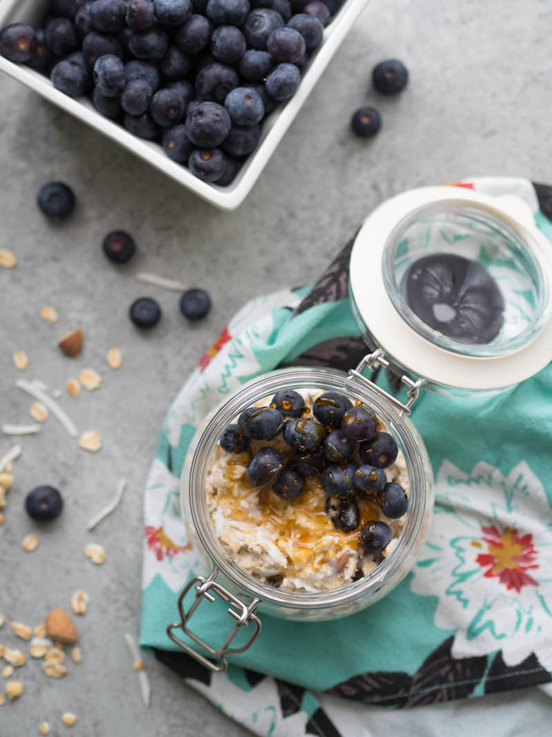 Mix coconut cherry muesli with yogurt and mix for a satisfying, fiber-packed breakfast! #muesli #breakfast #cherry #vegetarian #healthybreakfast #overnightoats #birchermuesli #homemade #cereal #vegan