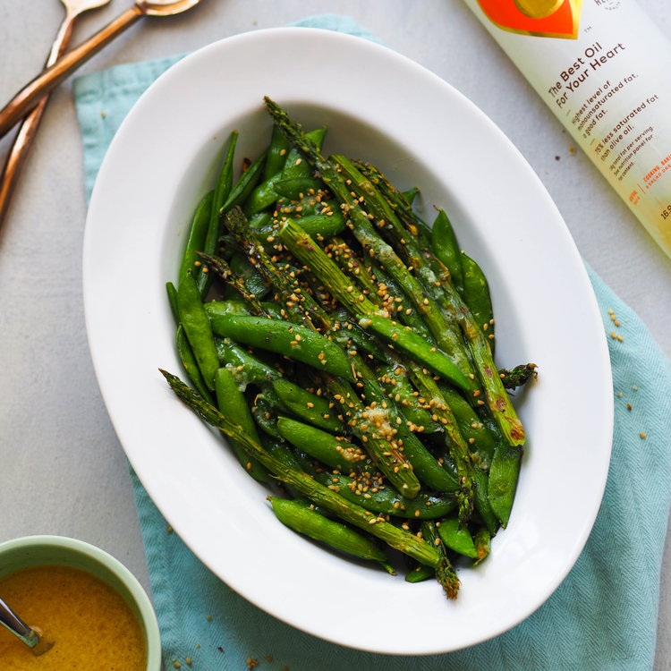 Grilled Spring Vegetables with Miso-Lime Dressing