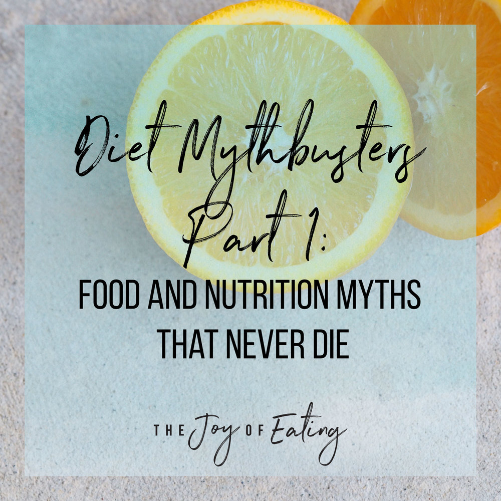 Mythbusting some of the most common food and diet myths! #nutrition #health #intuitiveeating