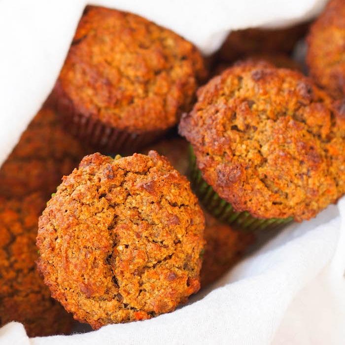 Gluten Free Carrot Pecan Muffins