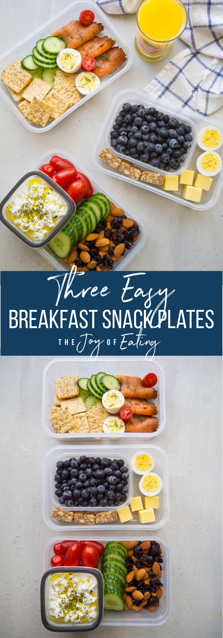 Breakfast snack plates are an easy and healthy grab and go way to start the day! Check out these three ideas! #breakfast #snackplate #healthy