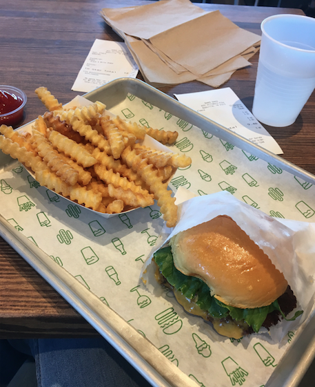My first experience with Shake Shack. No lie, this may have been one of my favorite burgers ever. The Shack Shake sauce knocked my socks off.