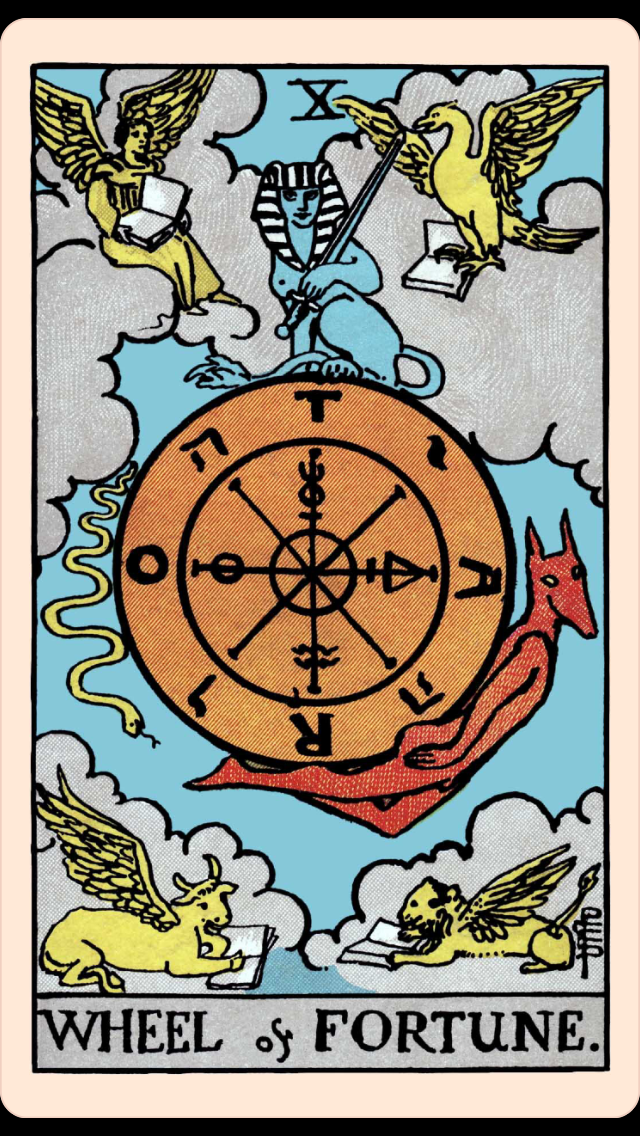 The Card Of The Day The Wheel Of Fortune Elliot Oracle Tarot