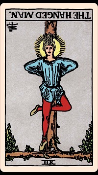 The Card of the Day: The Hanged Man (Reversed) — Elliot Oracle - Tarot Card Readings