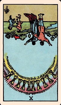 The Card of the Day: The Ten of Cups (Reversed)