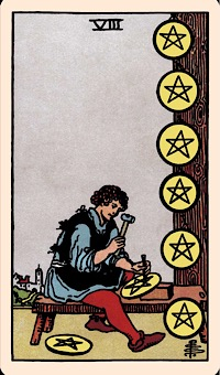 The Card Of The Day The Eight Of Pentacles Elliot Oracle Tarot Card Readings Assuming it is a clarification card and doesn't hold its own position. elliot oracle