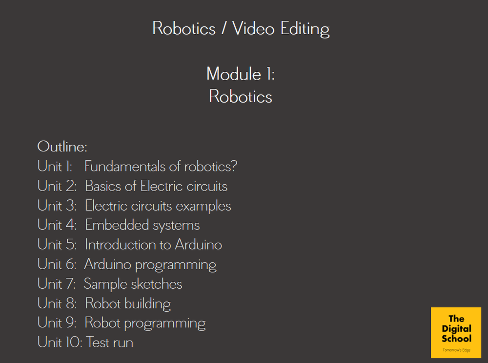 Introduction To Robotics Technology And Video Editing An Outline