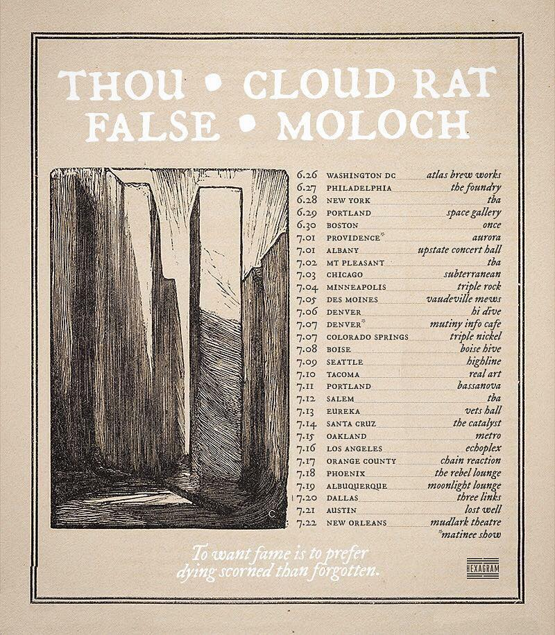 Thou False Cloud Rat Moloch tour