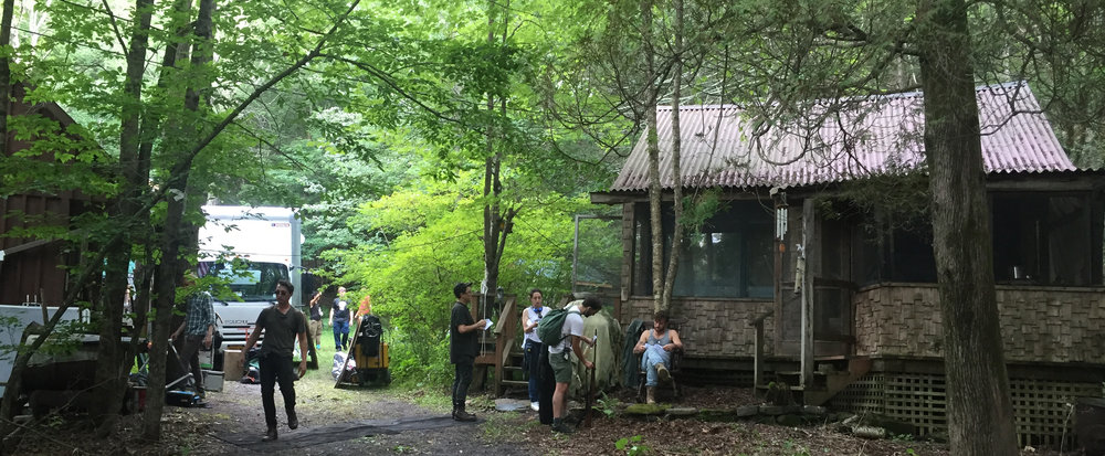 On location with THE STRANGE ONES (starring Alex Pettyfer)in WIllow, NY