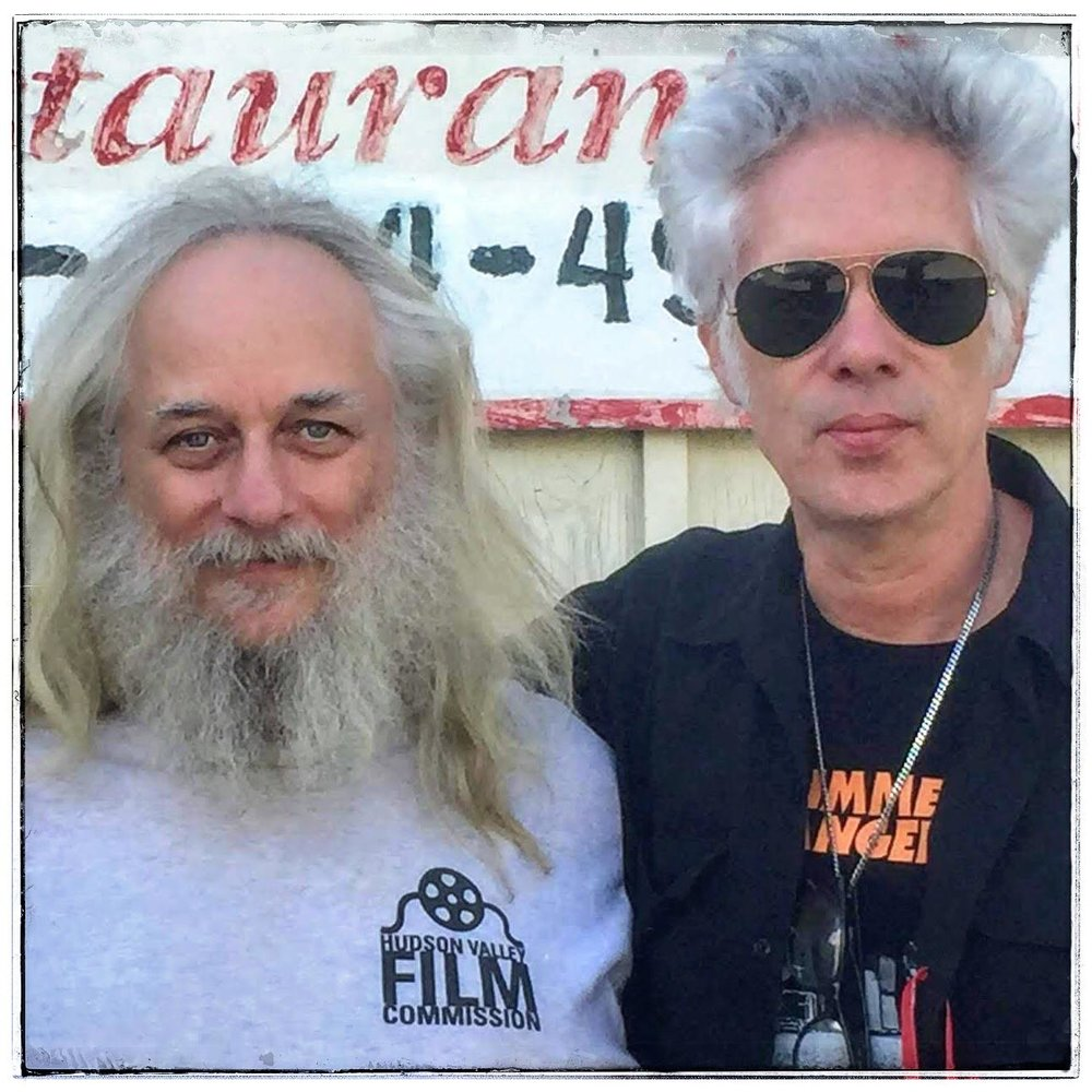 Laurent Rejto with director Jim Jarmusch