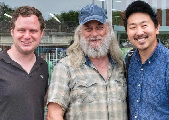On location in Pleasant Valley with producer Joe Pirro and director Andrew Ahn.