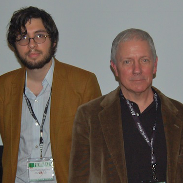 Carlo Mirabella-Davis and David Hall at 2009 Woodstock FIlm Festival with KNIFE POINT
