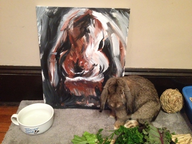 Welcome to Bunny's Art Show! Have Some Refreshments and Enjoy the Painting!