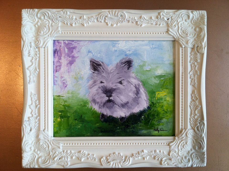 Fluffball Bunny Is the Subject of a Painting 3