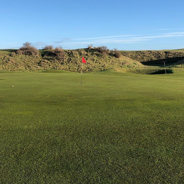 A glorious December day; singles and foursomes. Amazing greens the week before Christmas. #linksgolf #alzheimers #ryegolfclub