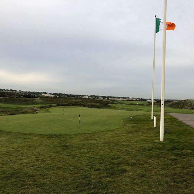 In response to #theislandgolfclub and the absent flag pole; the missing link.  I was there the day after the storm  #linksgolf #theislandgolfclub  #alzheimers