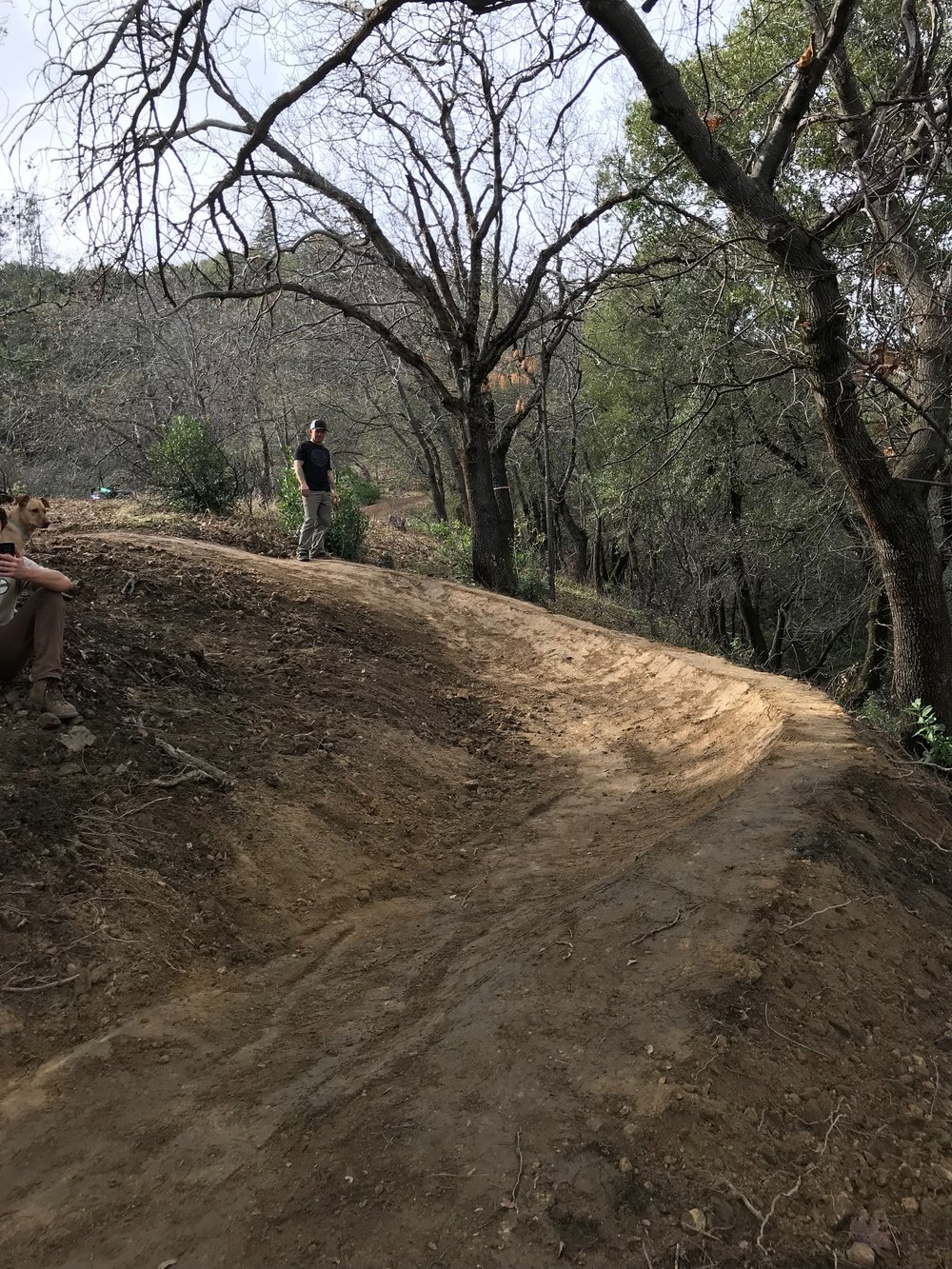 Finished berm (uphill)