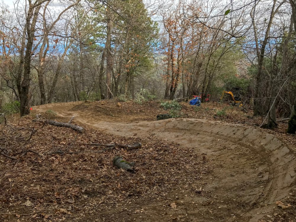Finished berm (downhill)