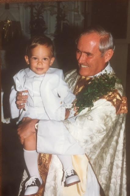 Josiah with a Salesian Priest