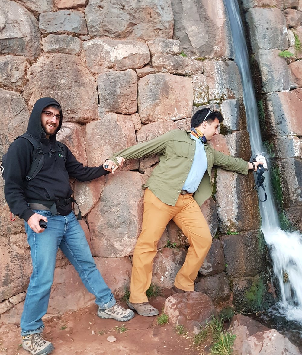 My friend Kevin and I filled our canteens with glacial water from an Incan ruin outside Cusco, Peru. There were points in that trip where we faced dehydration.