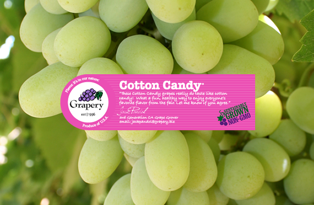 Cotton candy grapes are made through a similar selective breeding process as seedless watermelons.