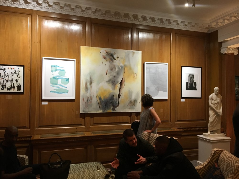 "Anemoi Art, Mayfair, Oct 2018 - Michelle with ""Hues of Change"", exhibited at Anemoi Art in Mayfair, London"