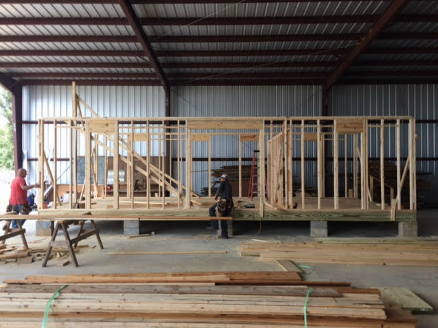 It begins taking the classic farmhouse shape with each additional wall.