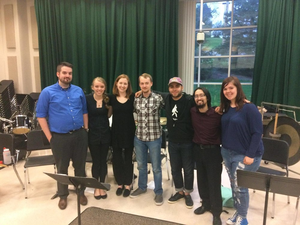 EASTHAMA with the percussion students at Houghton College