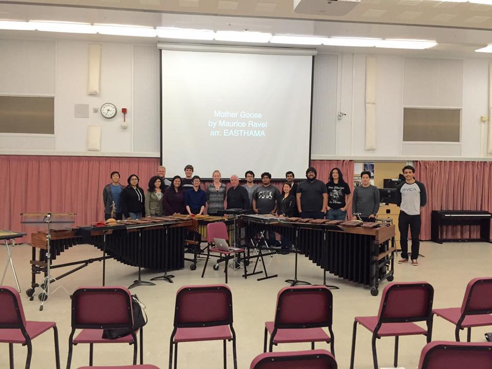 EASTHAMA with the percussion studio at Cal Poly Pomona and professor Bill Schlitt