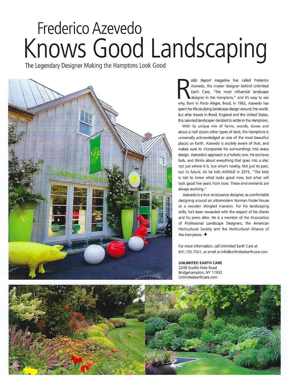 Avenue Magazine - FA Knows Good Landscaping_June 2017 1.jpg