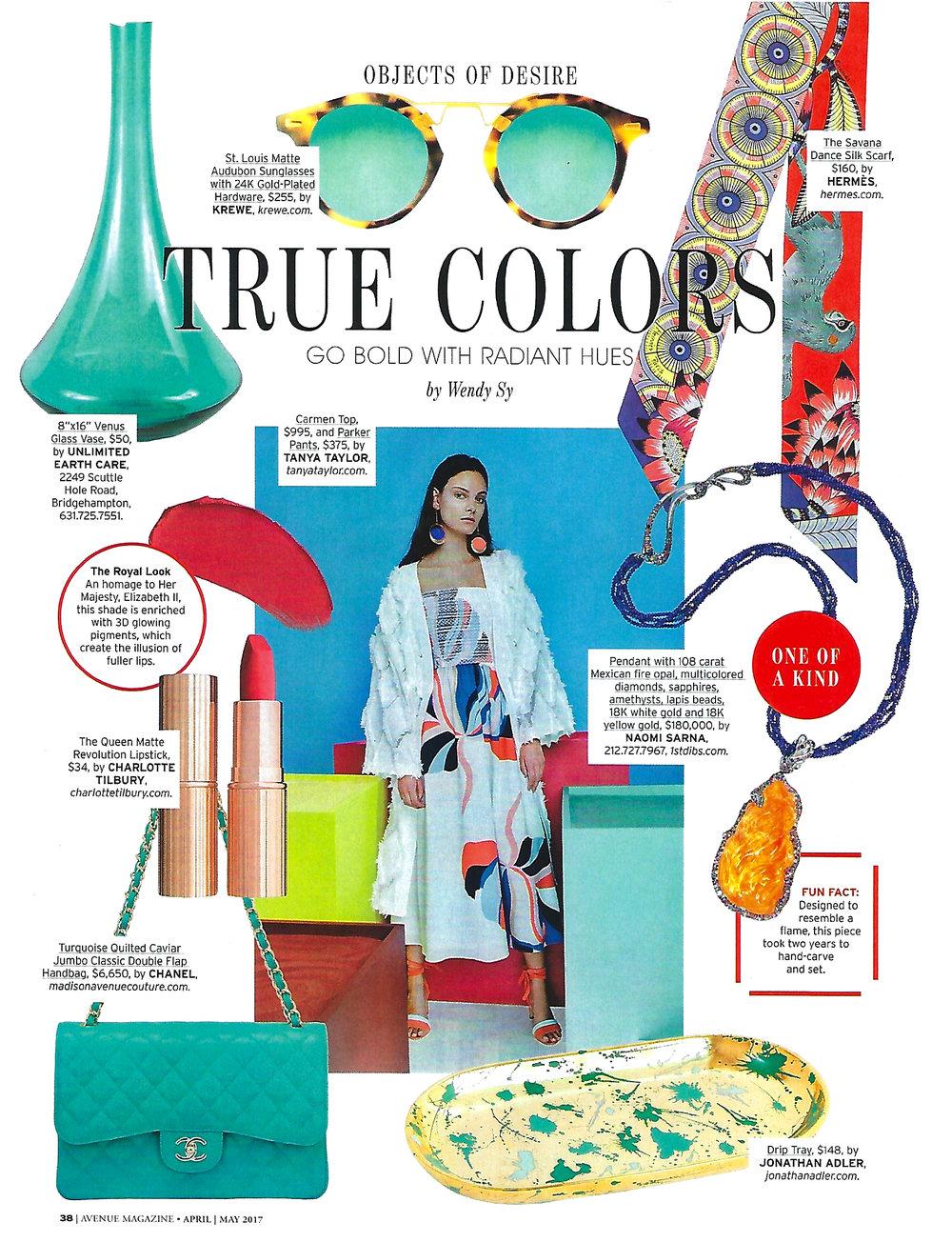Avenue Magazine - True Colors_May 2017.jpg