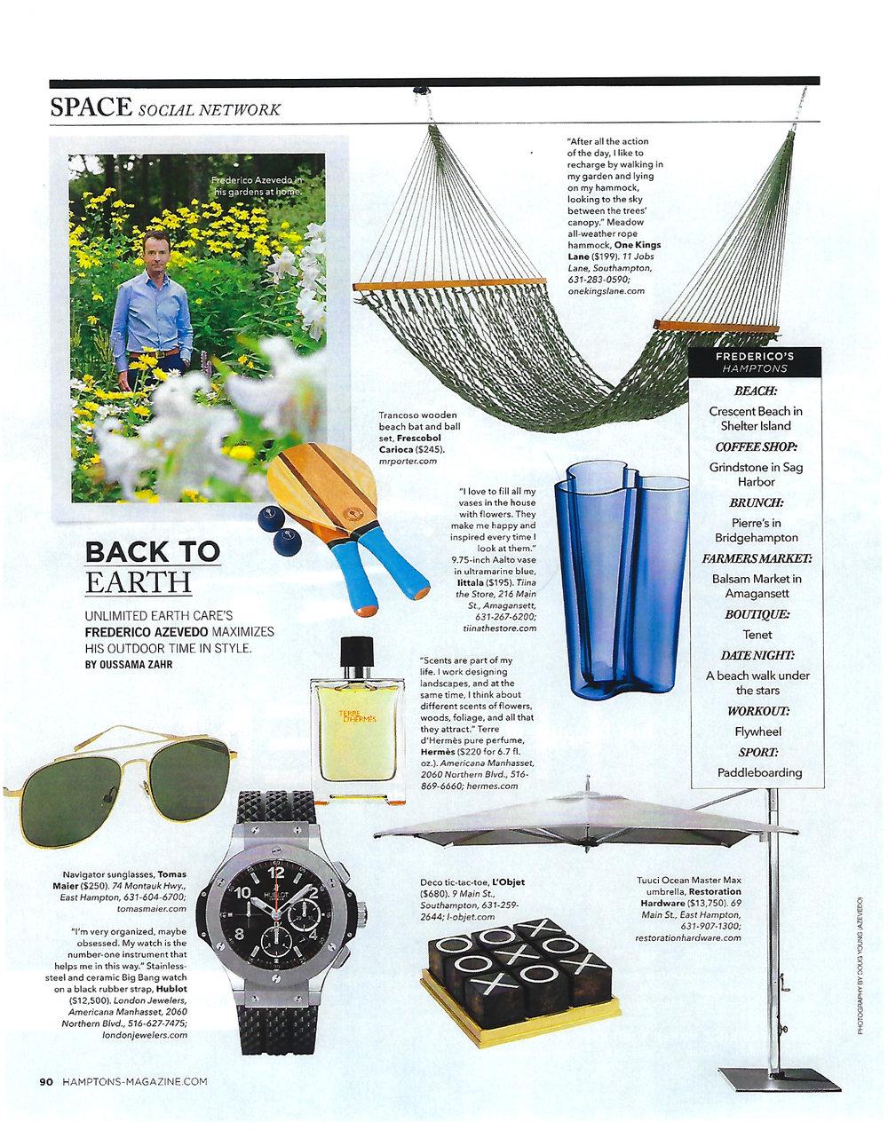Hamptons Magazine - Back to Earth_August 2017.jpg