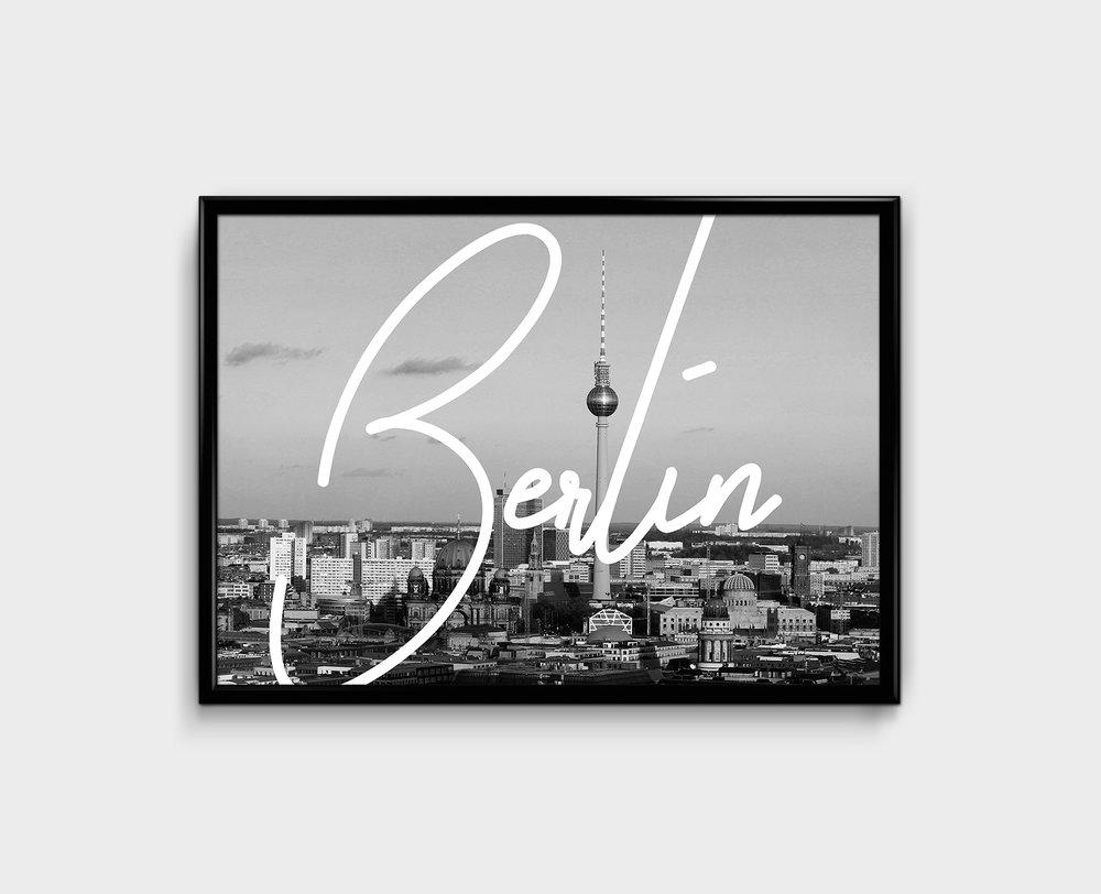 BERLIN TYPOGRAPHY PRINT - 26 €