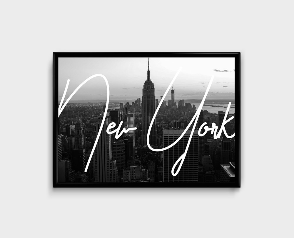NYC TYPOGRAPHY PRINT - 26 €