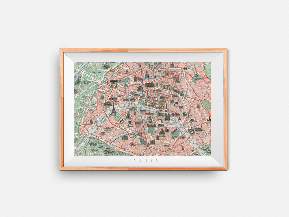 Paris Map Print | 18 €