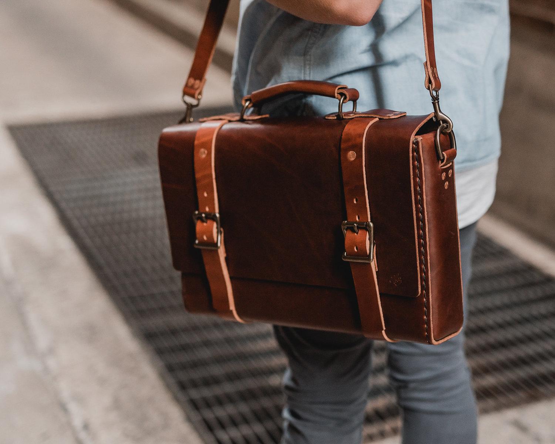 Handmade Leather Bag - Full Grain Leather