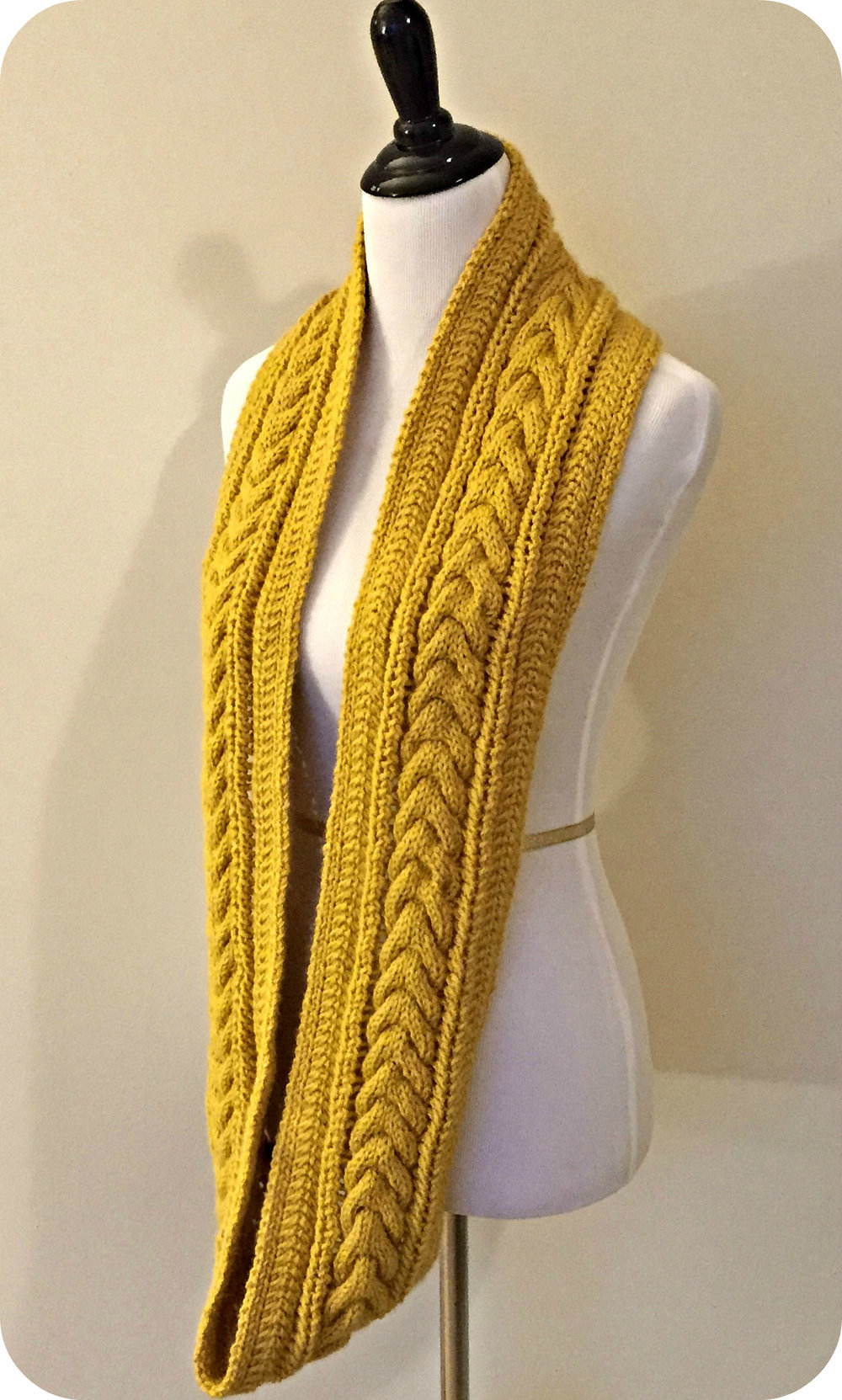 Leigh Cable Knit Infinity Scarf Annelise Knits
