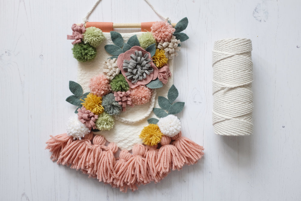 My flower banner tutorial for Mollie Makes magazine was on the cover! I loved making this!
