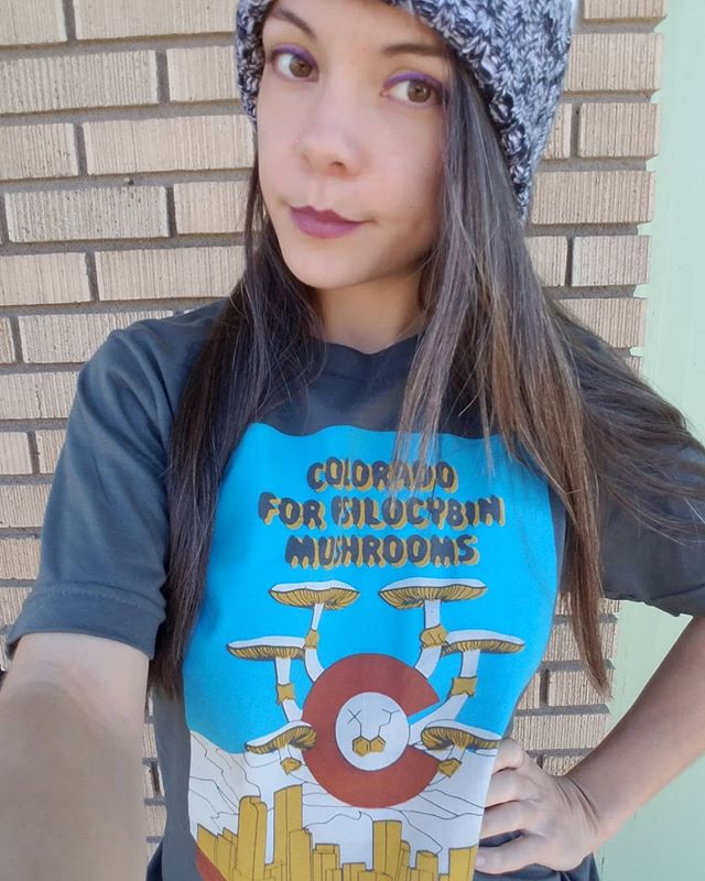 Colorado was ahead of the game with cannabis and we should be ahead of the game with psilocybin mushrooms as well! Click on the link in my bio to get a shirt and start the conversation! @decriminalizedenver is collecting signatures to get it on the ballot this spring so contact them to get involved! Compass pathways received FDA approval for psilocybin therapy clinical trials for treatment-resistant depression in August so its only a matter of time for this medicine to get the respect it deserves! We have a mental health problem in our society and psychedelics are an untapped resource that could save many lives. It saved my life and thats why I dedicate so much time into raising awareness. Psilocybin made me into a better person and we are doing our society a great injustice by demonizing it and arresting people for using something that helps them with trauma. #colorado #denver #milehighcity #psychedelics #trippy #terencemckenna #legalizeit #endthewarondrugs #warondrugs #magicmushrooms #cannabis #cannabiscommunity #paulstamets #mushrooms #entheogen #hallucinogen #sacred #ptsd #trauma #depression #spiritualawakening #spiritual #920 #420 #mycology #fungi #superfood