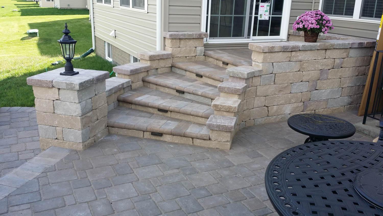 stone steps j gonzalez construction patio construction in glen