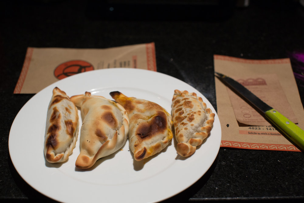 Beef empanadas from four different places.