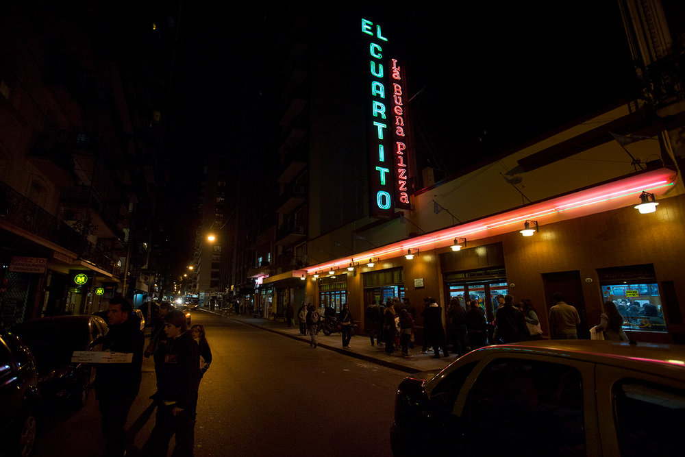 SLIDESHOW: Pizza at El Cuartito in Buenos Aires.