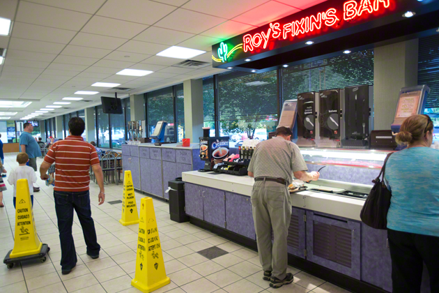 Unlike Burger King and others, Roy Rogers offers a  Fixin's Bar  - an assortment of self-serve condiments.